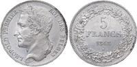 Belgien, Königreich 5 Francs Leopold I. 1830-1865.