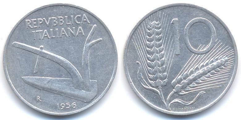 10 Lire 1956 R Italien Italy Republik Seit 1946 Sehr Schön Ma Shops