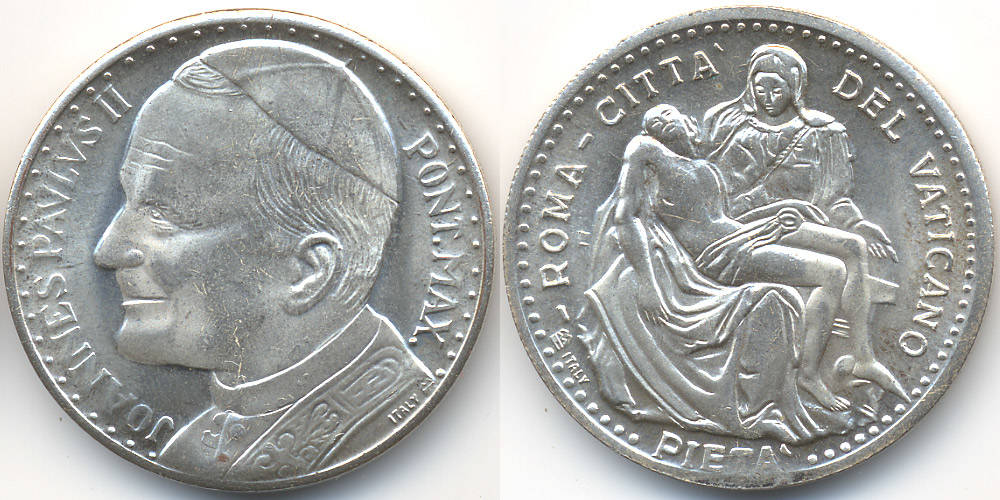Versilberte Bronzemedaille Ohne Jahr Vatikan Vatican Johannes Paul