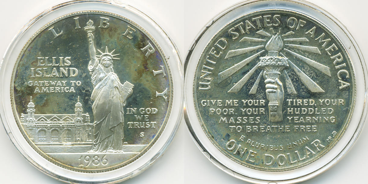 1 Dollar 1986 S Usa Statue Of Liberty Centennial I100 Jahre