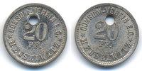 Sachsen/Altenburg - Meuselwitz 20 Pfennig Consum Verein (Menzel zu16722.15) oben 3,00 mm gelocht