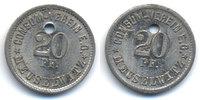 Sachsen/Altenburg - Meuselwitz 20 Pfennig Consum Verein (Menzel zu16722.15) oben 2,20 mm gelocht