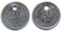 Sachsen/Altenburg - Meuselwitz 20 Pfennig Consum Verein (Menzel zu16722.15) oben 3,20 mm gelocht