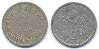 Rumänien - Romania 2 Lei Ferdinand I. 1914-1927 - Brüssel ohne Münzzeichen