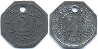 Sachsen - Klein-Wanzleben 2 Pfennig Z.K.W. V.R. & G. A.G.=Zuckerfabrik (H.503.2)