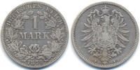 Kaiserreich 1 Mark kleiner Adler - Silber