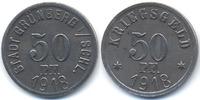 Schlesien 50 Pfennig Grünberg - Eisen 1918 (Funck 176.3)