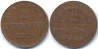 Bayern 2 Pfennig Ludwig II. 1864-1886 – einseitige Prägung