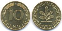 BRD 10 Pfennig Stahl/tombakplattiert