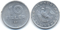 Ungarn - Hungary 10 Filler Volksrepublik 1949-1989