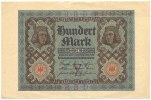 Deutsches Reich Inflation 1919-1924 100 Mark Rosenberg Nr. 67b – KN 8stellig