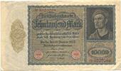 Deutsches Reich Inflation 1919-1924 10 000 Mark Rosenberg Nr. 68b – ohne Udr.-Bst.