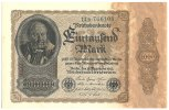 Deutsches Reich Inflation 1919-1924 1000 Mark Rosenberg Nr. 81b – Firmendruck FZ B