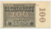 Deutsches Reich Inflation 1919-1924 100 Millionen Mark Rosenberg Nr. 106t – Firmendruck WZ Ringe KN 6stellig KN und FZ rot
