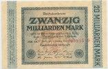 Deutsches Reich Inflation 1919-1924 20 Milliarden Mark Rosenberg Nr. 115b – WZ Hakensterne KN 6stellig rot