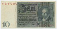 Deutsches Reich Reichsbank 1924-1945 10 Reichsmark Rosenberg Nr. 173a – Friedensdruck Udr.-Bst. F Serie Y