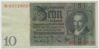 Deutsches Reich Reichsbank 1924-1945 10 Reichsmark Rosenberg Nr. 173a – Friedensdruck Udr.-Bst. P Serie R