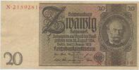 Deutsches Reich Reichsbank 1924-1945 20 Reichsmark Rosenberg Nr. 174a – Friedensdruck Udr.-Bst. E Serie X