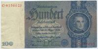 Deutsches Reich Reichsbank 1924-1945 100 Reichsmark Rosenberg Nr. 176a – Friedensdruck Udr.-Bst. D Serie C