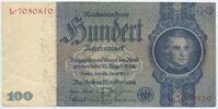 Deutsches Reich Reichsbank 1924-1945 100 Reichsmark Rosenberg Nr. 176b – Zwischenform Udr.-Bst. E Serie L