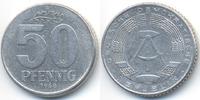 DDR 50 Pfennig Aluminium – Avers leicht dezentriert