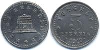 Bayern 5 Pfennig Kelheim - Zink 1917 (Funck 237.2) Rand glatt