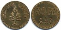 Sachsen 50 Pfennig Lauter - Messing ohne Jahr (Funck 280.1)