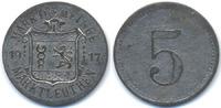 Bayern 5 Pfennig Marktleuthen – Zink vernickelt 1917 (Funck 322.1a) Originalprägung