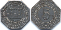 Bayern 5 Pfennig Rothenburg o. T. - Eisen ohne Jahr (Funck 453.3) Durchmesser 16,20 mm