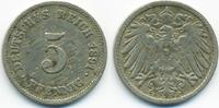 Kaiserreich 5 Pfennig großer Adler - Kupfer/Nickel
