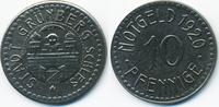 10 Pfennig 1920 Schlesien Grünberg - Eisen 1920 (Funck 176.8a) sehr sch... 9,50 EUR  +  2,00 EUR shipping