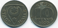 10 Pfennig 1920 Sachsen Halle - Eisen 1920 (Funck 187.1b) vorzüglich - ... 1,50 EUR  +  2,00 EUR shipping
