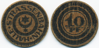 Sachsen 10 Pfennig Halle - Presspappe ohne Jahr (Funck 188.1)