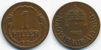 1 Filler 1928 BP Ungarn - Hungary Regierung Horthy 1920-1944 vorzüglich  2,00 EUR  +  2,00 EUR shipping