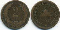 2 Filler 1894 KB Ungarn - Hungary Franz Josef I. 1848-1916 schön/sehr s... 1,00 EUR  +  2,00 EUR shipping