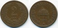 2 Filler 1895 KB Ungarn - Hungary Franz Josef I. 1848-1916 sehr schön  1,00 EUR  +  2,00 EUR shipping