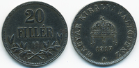20 Filler 1917 KB Ungarn - Hungary Franz Josef I. 1848-1916 sehr schön+... 1,50 EUR  zzgl. 1,20 EUR Versand