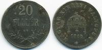 20 Filler 1918 KB Ungarn - Hungary Franz Josef I. 1848-1916 sehr schön+... 1,50 EUR  zzgl. 1,20 EUR Versand