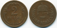 2 Filler 1927 BP Ungarn - Hungary Regierung Horthy 1920-1944 sehr schön... 0,80 EUR  +  2,00 EUR shipping