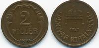 2 Filler 1927 BP Ungarn - Hungary Regierung Horthy 1920-1944 sehr schön+  1,20 EUR  +  2,00 EUR shipping