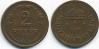 2 Filler 1938 BP Ungarn - Hungary Regierung Horthy 1920-1944 sehr schön+  0,50 EUR  +  2,00 EUR shipping