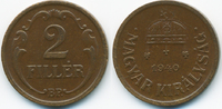 2 Filler 1940 BP Ungarn - Hungary Regierung Horthy 1920-1944 vorzüglich  0,70 EUR  +  2,00 EUR shipping