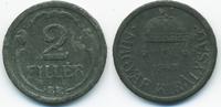 2 Filler 1943 BP Ungarn - Hungary Regierung Horthy 1920-1944 sehr schön+  0,60 EUR  +  2,00 EUR shipping