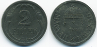 2 Filler 1943 BP Ungarn - Hungary Regierung Horthy 1920-1944 gutes vorz... 1,00 EUR  +  2,00 EUR shipping
