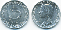 5 Filler 1955 BP Ungarn - Hungary Volksrepublik 1949-1989 vorzüglich - ... 0,80 EUR  +  2,00 EUR shipping