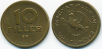 10 Filler 1946 BP Ungarn - Hungary Erste Republik 1946-1949 sehr schön+  0,70 EUR  +  2,00 EUR shipping