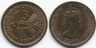 3 Mils 1955 Zypern - Cyprus Elisabeth II. ab 1952 prägefrisch  3,50 EUR  +  2,00 EUR shipping