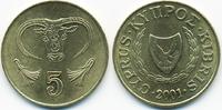 5 Cents 2001 Zypern - Cyprus Republik 1960-2001 prägefrisch  0,80 EUR  +  2,00 EUR shipping