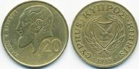 20 Cents 1989 Zypern - Cyprus Republik 1960-2001 sehr schön+  1,00 EUR  +  2,00 EUR shipping