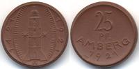 Bayern - Amberg 25 Pfennig Stadt Amberg - Böttger Steinzeug (Menzel 474.2) Variante